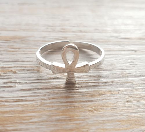 Ankh Sterling Silver Toe/Pinky Ring