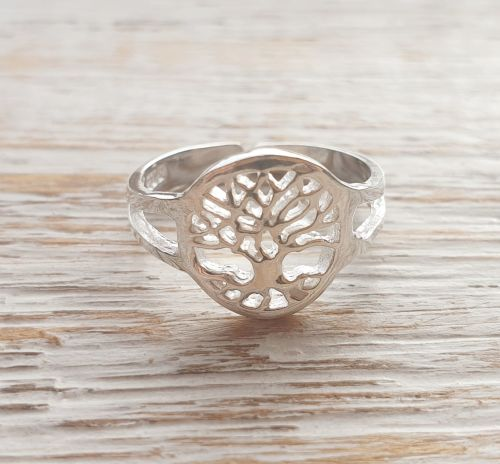 Tree Of Life Sterling Silver Toe/Pinky Ring