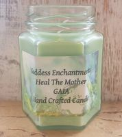Heal The Mother GAIA Altar & Ritual Jar Candle ~ Organic and Natural