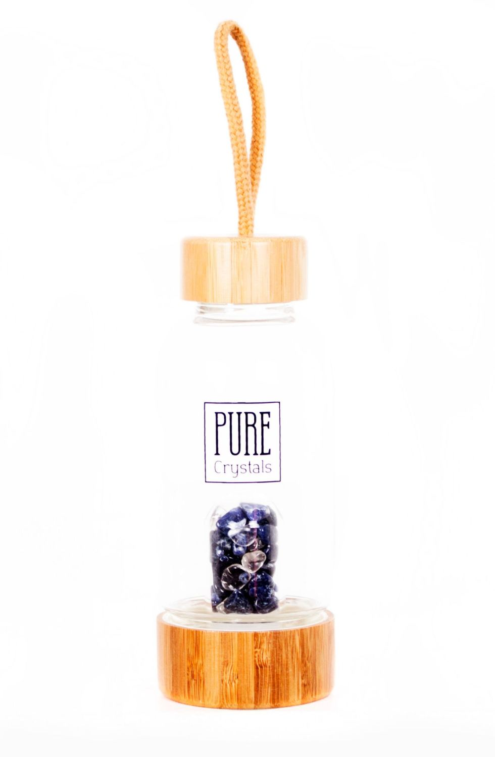 PRE-ORDER Crystal Infusion Water Bottle With Pod ~ SODALITE ~