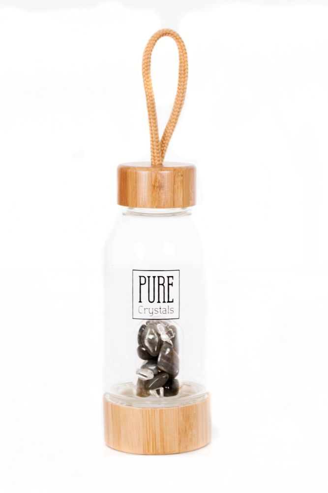 PRE-ORDER Crystal Infusion Water Bottle With Pod ~ LABRADORITE ~