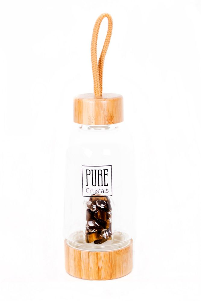 PRE-ORDER Crystal Infusion Water Bottle With Pod ~ TIGERS EYE ~