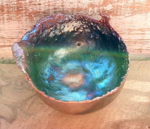 Artisan Made Copper Altar Healing and Offering Bowl