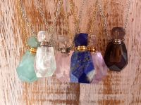 Intuitively Chosen Gemstone Perfume Necklaces with Divine Ritual Oil