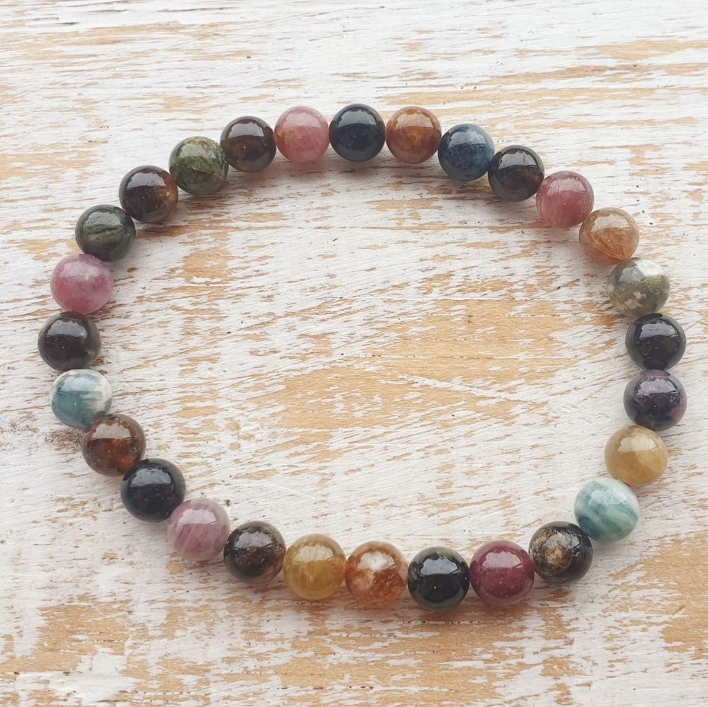 Mixed Tourmaline Gemstone Bracelet