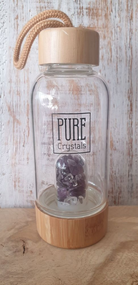 Crystal Infusion Water Bottle With Pod ~ AMETHYST ~