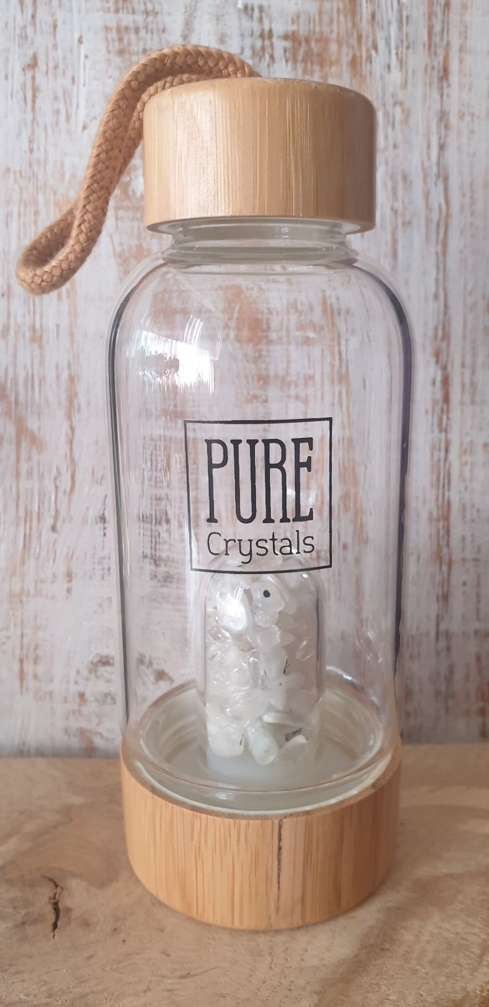 Crystal Infusion Water Bottle With Pod ~ RAINBOW MOONSTONE ~