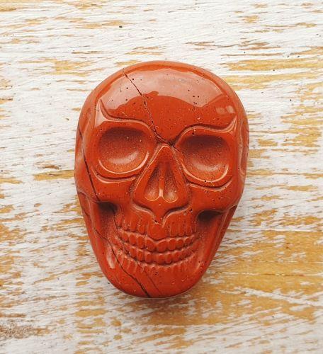 Red Jasper Hand Carved Skull