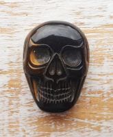 Tigers Eye Hand Carved Skull