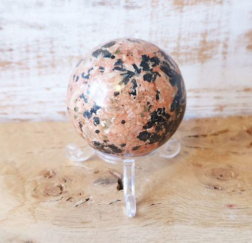 Rhodonite and Manganese Sphere (Medium)