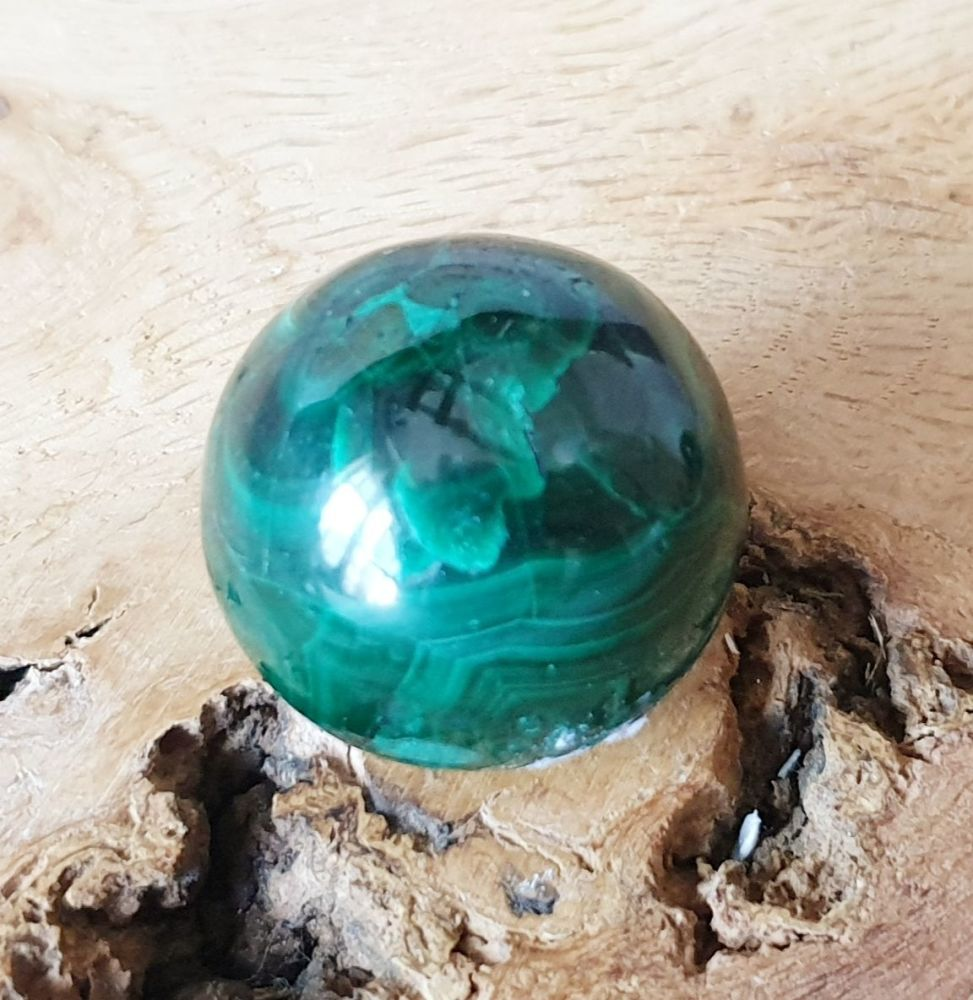 Malachite Sphere (1) For Divine Feminine Healing
