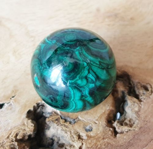 Malachite Sphere (2) For Divine Feminine Healing