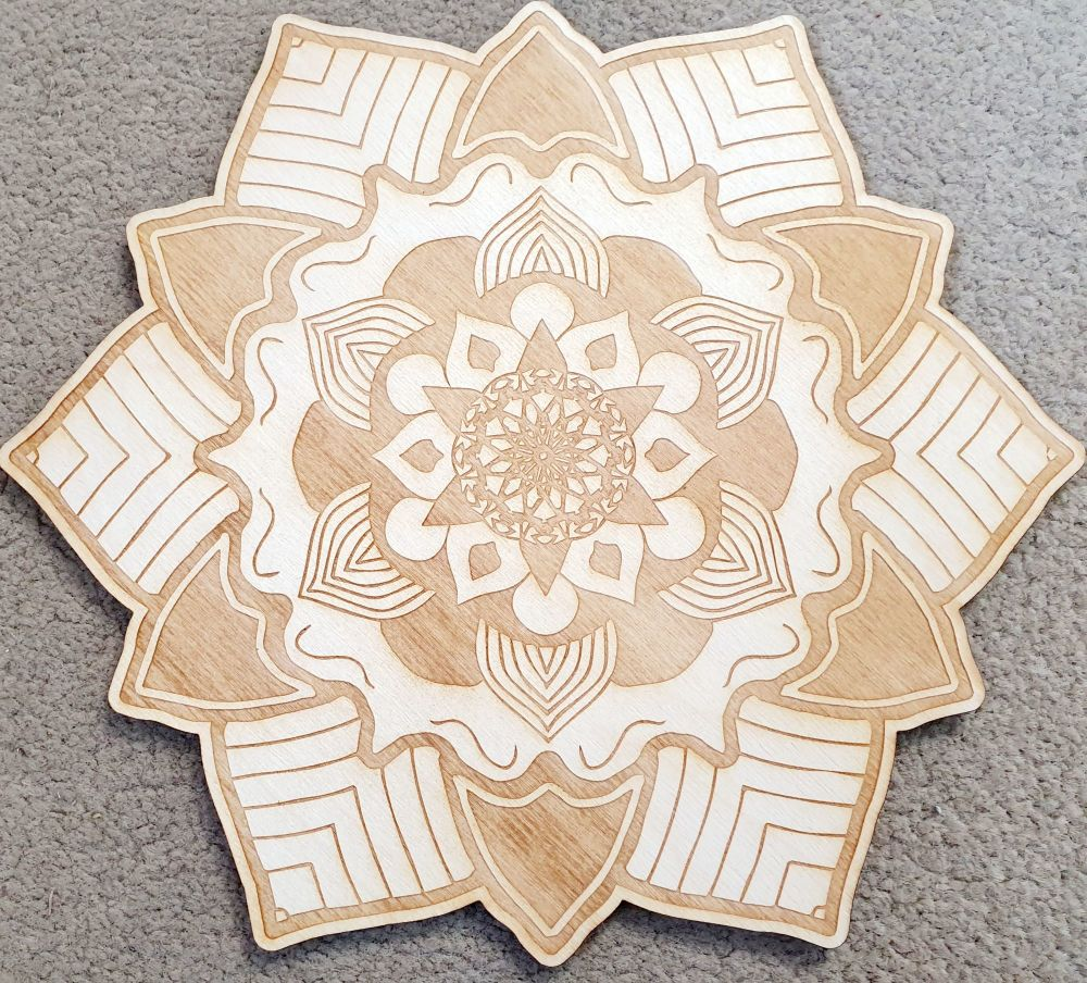 Mandala Crystal Grid Board 10 inch