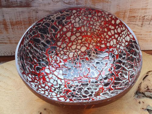Coconut and Egg Shell Handmade Altar Bowl
