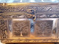 Silver Domed Trunk Tree Of Life Box
