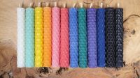 10cm Beeswax Spell Candles ~ You Choose ~ Red, Yellow, Green, Blue, Purple, Pink, Black, Orange