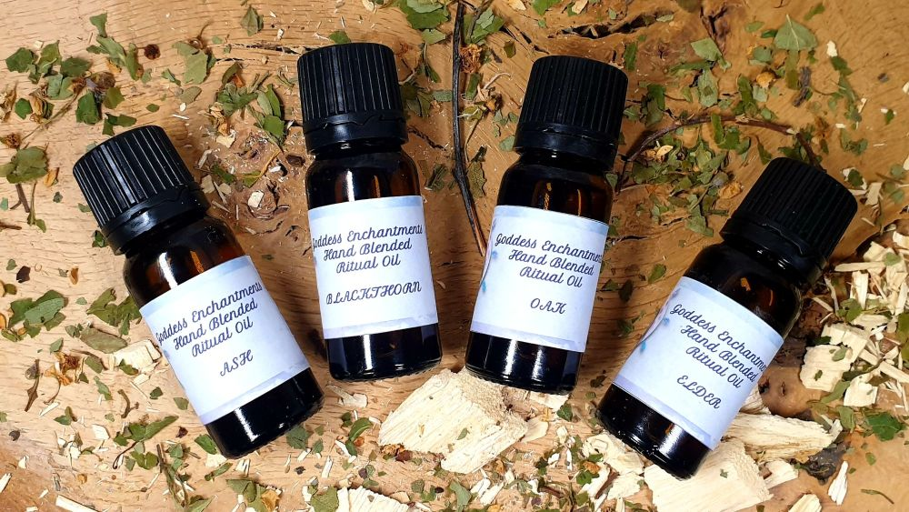Hand Crafted Tree Candle Anointing Spell & Ritual Oils ~ You Choose ~ Oak,