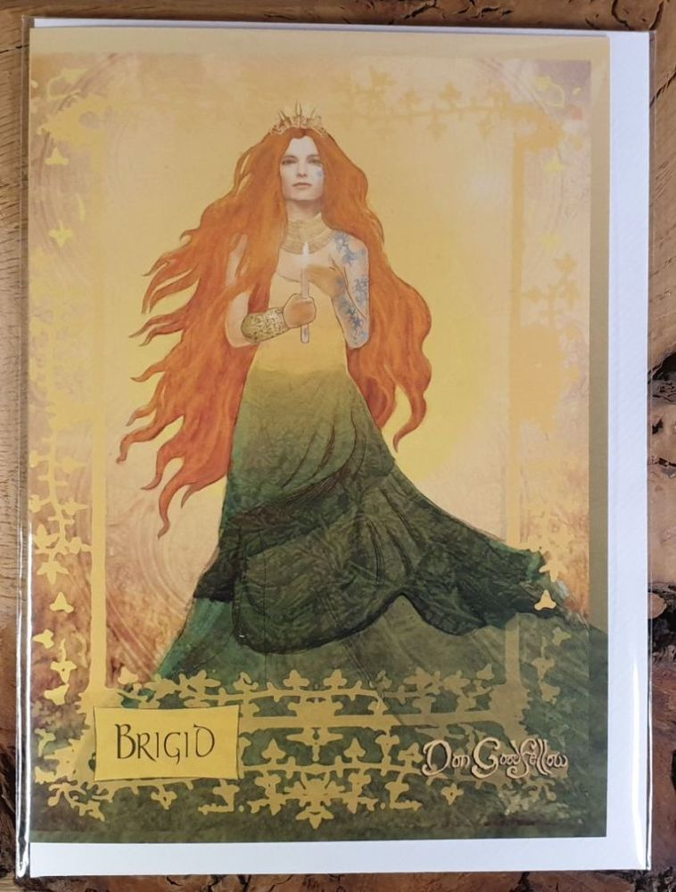 Celtic Goddess Brigid Greeting Card - Art Card