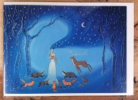 Goddess of Night and Protection Greeting Card - Art Card