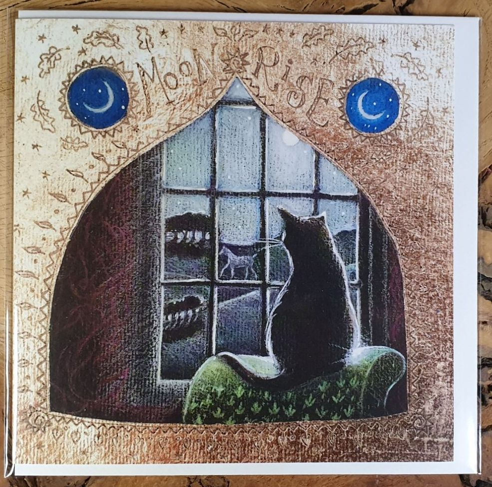 Moon Rise Greeting Card - Art Card
