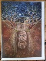 The Lost God Of The Hills Greeting Card - Art Card