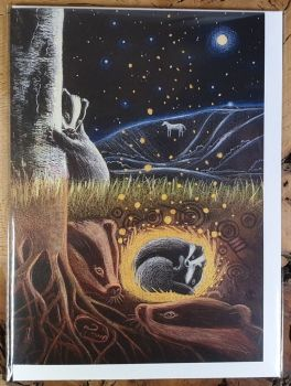 Upon the Next Full Moon Greeting Card - Art Card