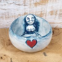 Goddess Tea Light Holder - Blue