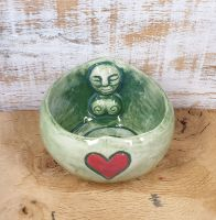Goddess Tea Light Holder - Green