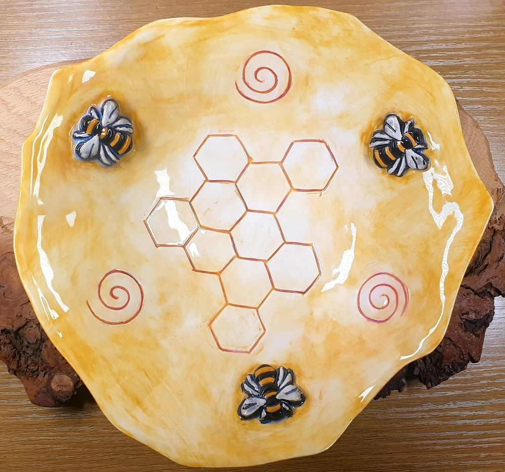 Large Bee Altar/Offering Bowl