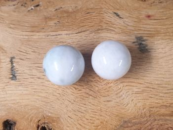 Jade Mini Spheres (pair)