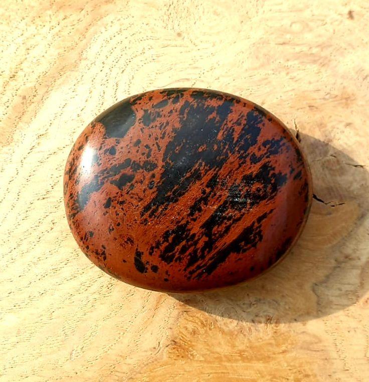 Mahogany Obsidian Palmstone (1)