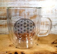Flower Of Life Double Walled Tea Glass