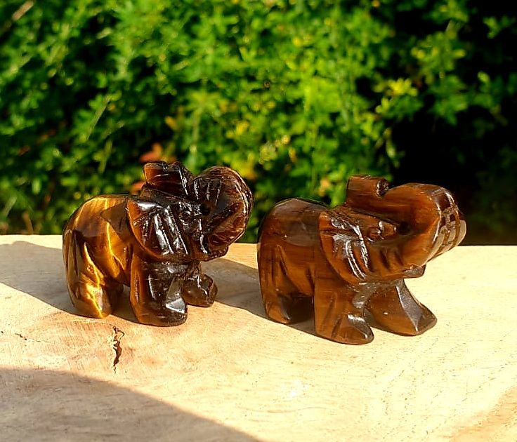 Ganesha Lucky Tigers Eye Elephant