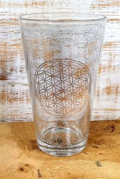 Flower Of Life Drinking Glass