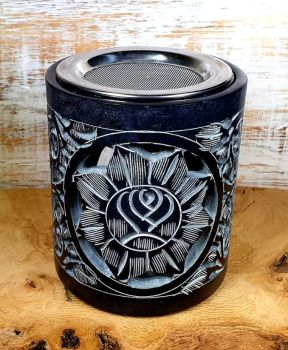 Incense and Oil Burner - Black Soapstone