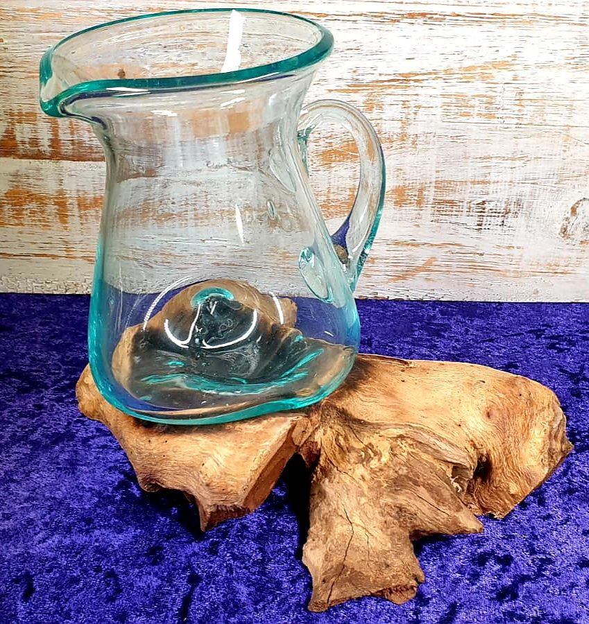 Molton Glass on Wood - Water Jug