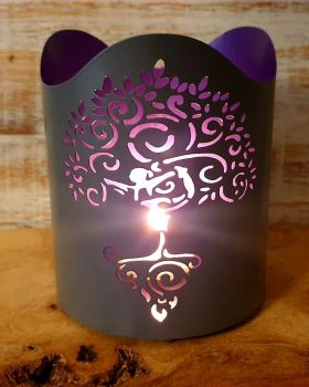 Tree Of Life - Purple Glow Tealight holder