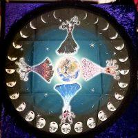 Four Seasons Goddesses Altar Cloth - 45cm