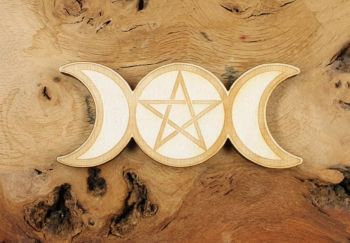 Triple Moon Pentacle Altar Tile