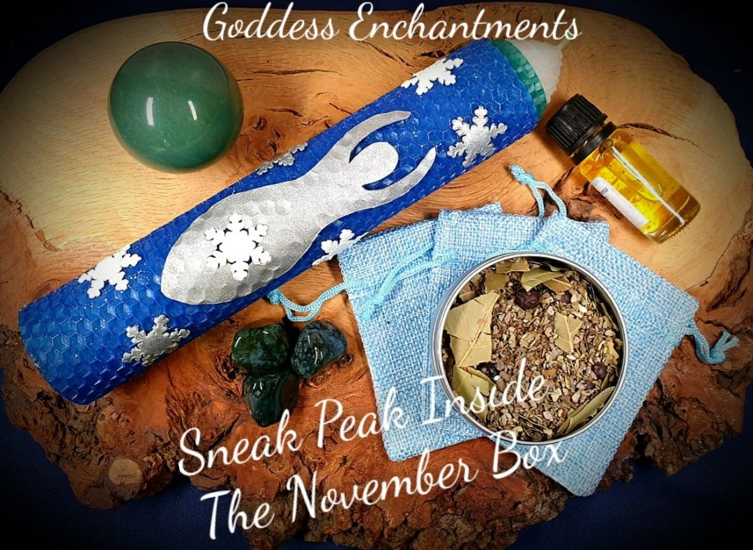 November Enchantments Box ~ Winter Wellness and Household Magick
