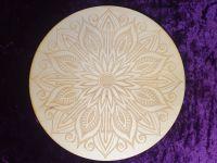 Mandala Lotus Crystal Grid Board 10 inch