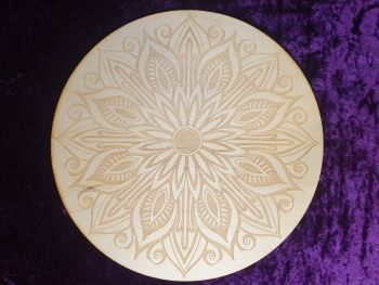 Mandala Lotus Crystal Grid Board 10 inch