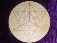 Merkaba Flower Of Life Grid Board 10 inch