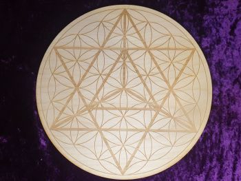 Merkaba Flower Of Life Grid Board 10 inch