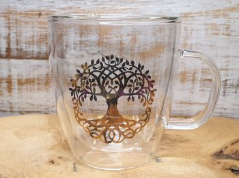 Tree Of Life Double Walled Tea Glass