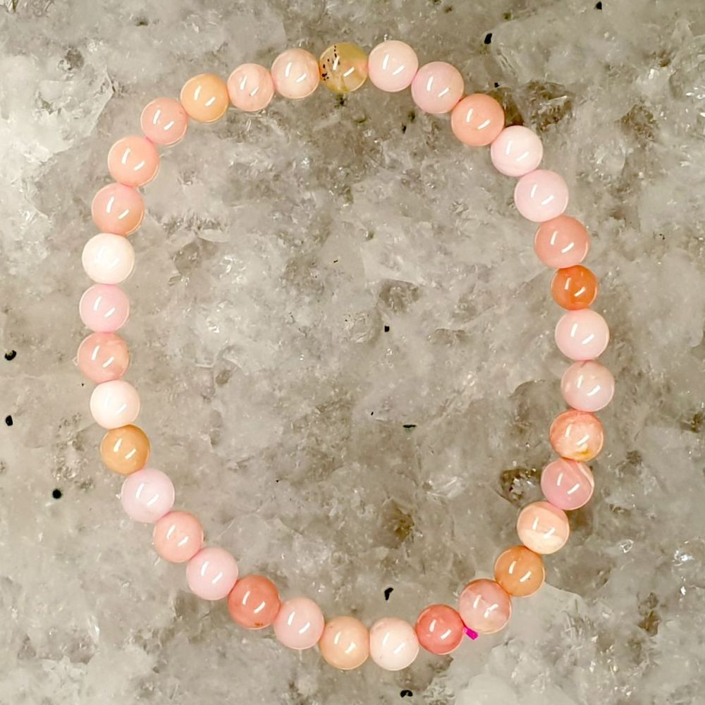 Andean Rose Opal Bracelet - High Grade