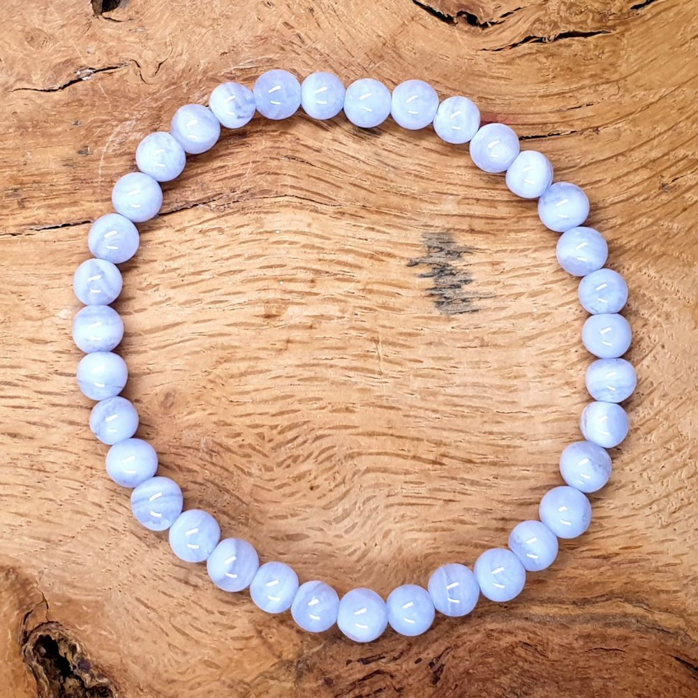 Calming Blue Lace Agate Gemstone Bracelet