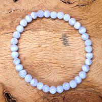 Calming Blue Lace Agate Gemstone Bracelet