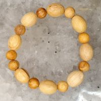 Palo Santo bracelet - round and oval beads