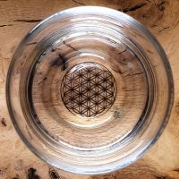 Drinking glass with Platinum Flower Of Life